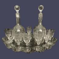 Service à liqueur en cristal de St Louis, époque Napoléon III