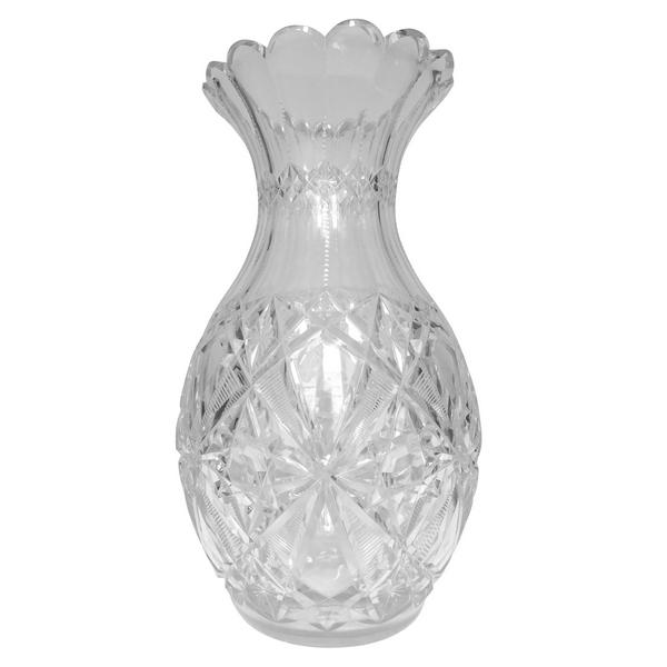 Spectaculaire vase en cristal de Baccarat, modèle Lagny - 44cm