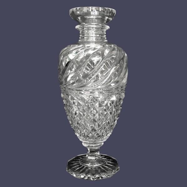 Vase en cristal de Baccarat de style Restauration - production du Musée - 25cm