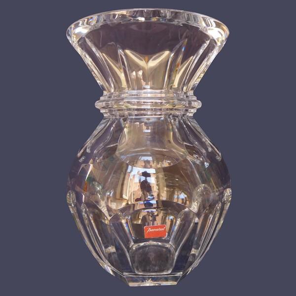 Vase en cristal de Baccarat, modèle Harcourt, signé, neuf - 22cm