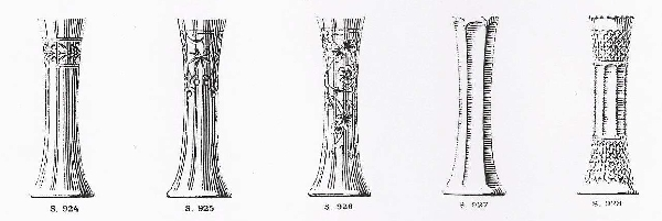 Grand vase en cristal de Baccarat taillé Art Nouveau circa 1900