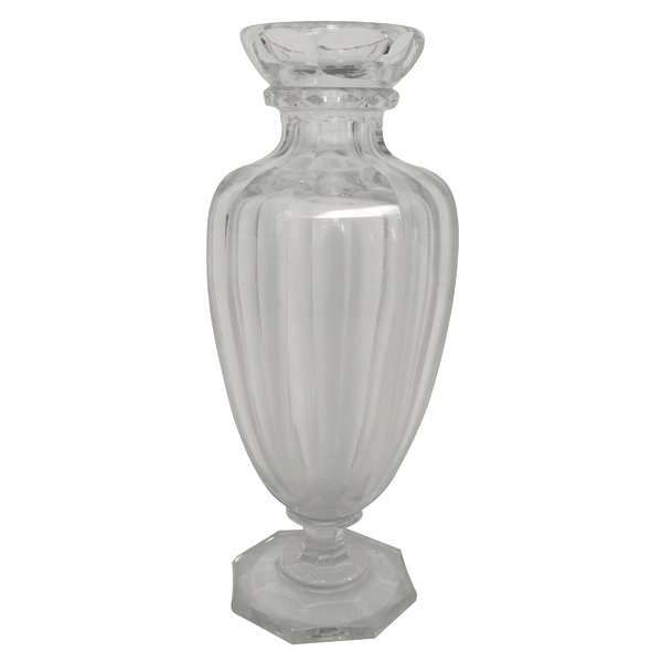 Vase en cristal de Baccarat modèle Malmaison - signé