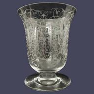 Vase en cristal de Baccarat, modèle Michelangelo - signé- 13cm