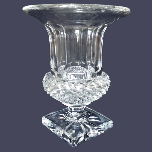 Grand vase Medicis en cristal de Saint Louis, modèle Versailles - 24,9cm