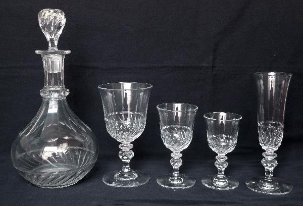 Verre à vin en cristal de Baccarat forme tulipe, époque Napoléon III - 12,2cm