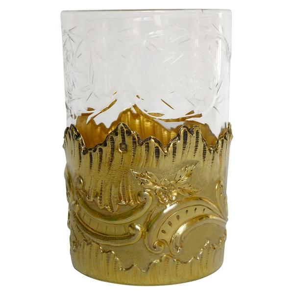 Timbale en vermeil et cristal de Baccarat par Henri Soufflot, poinçon Minerve