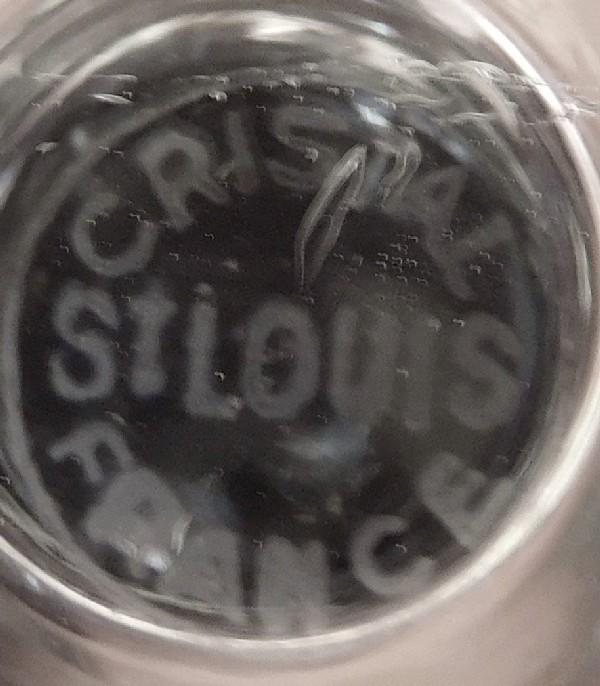 Verre à dégustation en cristal de Saint Louis, modèle Olympe, couronne Royale et SR - signé