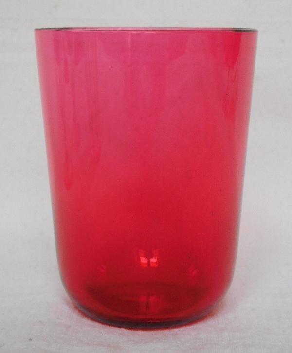 Verre à dents en cristal de Baccarat rose
