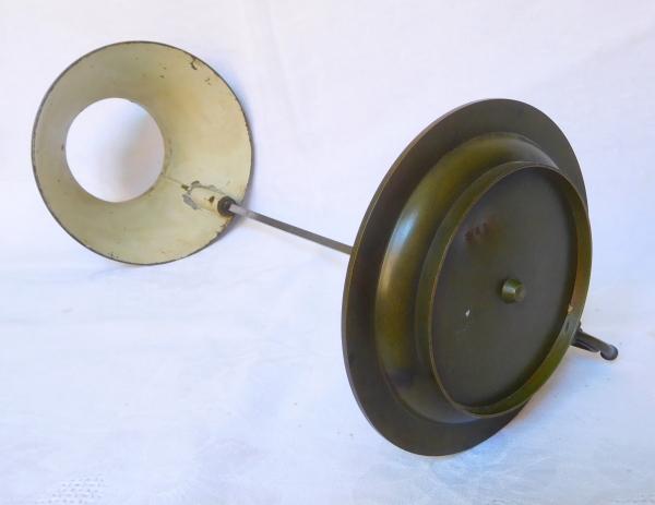 Lampe bouillotte de chevet en bronze patiné d'époque Restauration