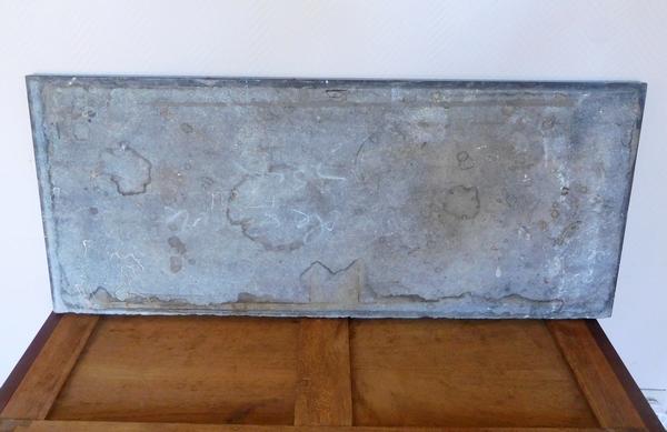 Paire de consoles d'époque Consulat Retour d'Egypte en acajou, numéros d'inventaire