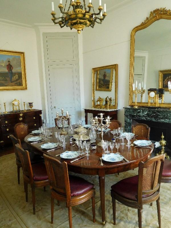 Très Grande Table De Salle à Manger De Style Louis XVI En Acajou Massif,  époque XIXe