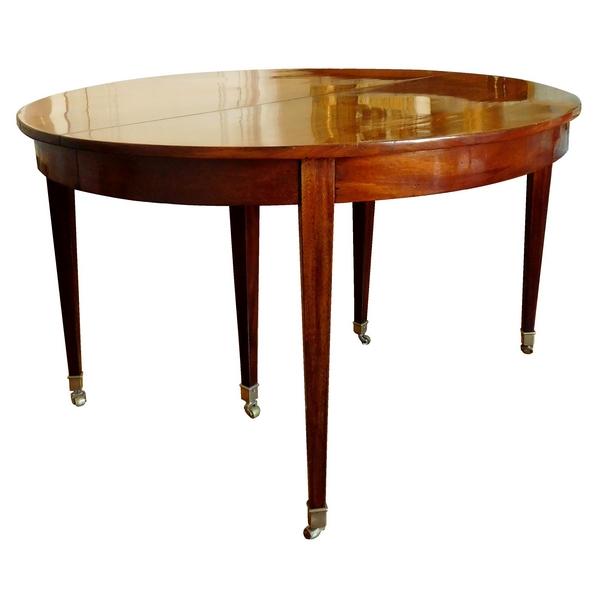 Table de salle à manger de style Louis XVI en acajou - 350cm