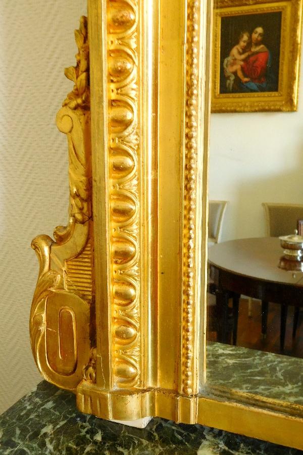 Tr S Grand Miroir En Bois Dor De Style Louis Xvi Vers
