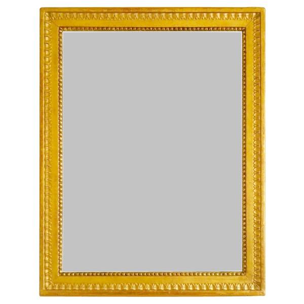 Miroir d'époque Louis XVI, cadre en bois doré, glace au mercure - 56cm x 72cm