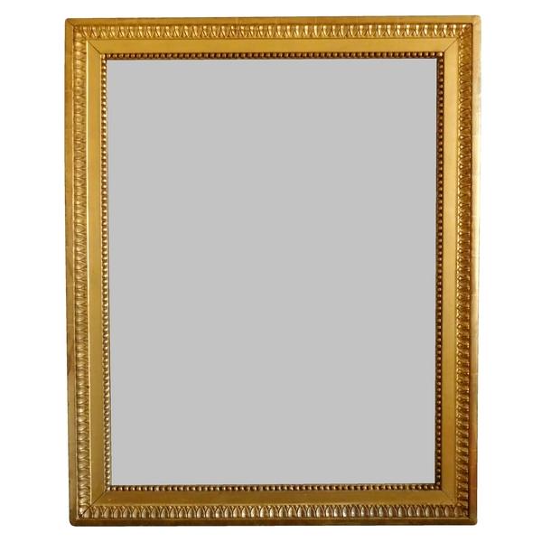 Miroir d'époque Louis XVI, cadre en bois doré, glace au mercure - 82cm x 104cm