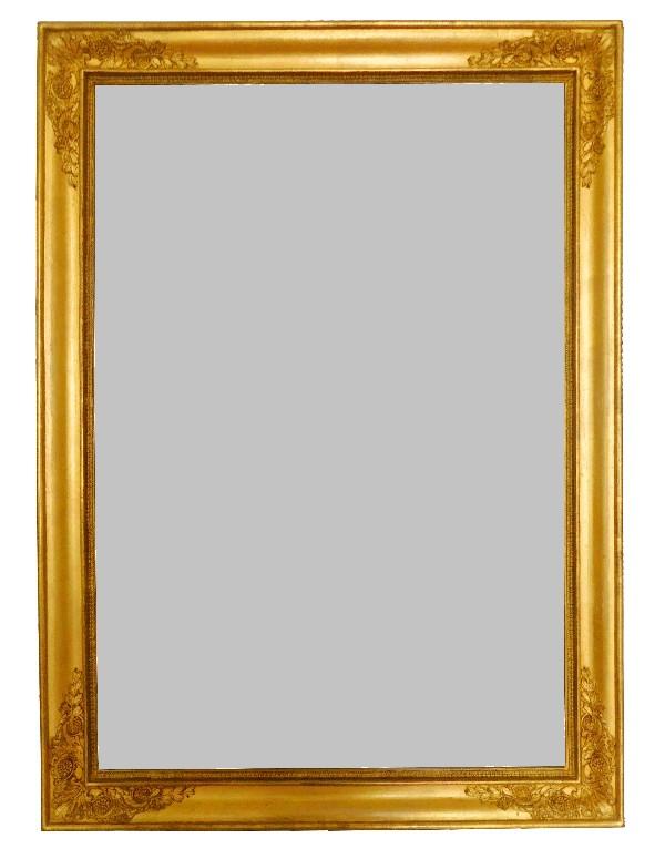 Miroir empire glace au mercure cadre en bois dor la for Miroir au mercure