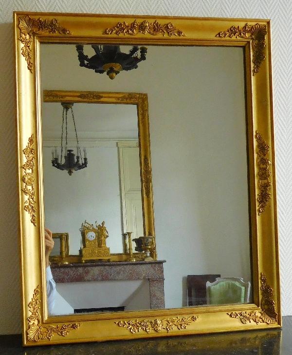 Miroir empire aux mascarons glace au mercure cadre en for Glace miroir sans cadre