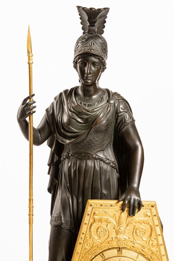 Gerard-Jean Galle - spectaculaire pendule Pallas Athena - fin de l'époque Empire vers 1820