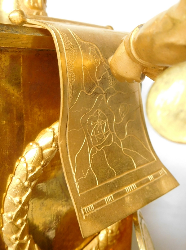 Pendule Empire en bronze doré au mercure - Frédéric II Le Grand