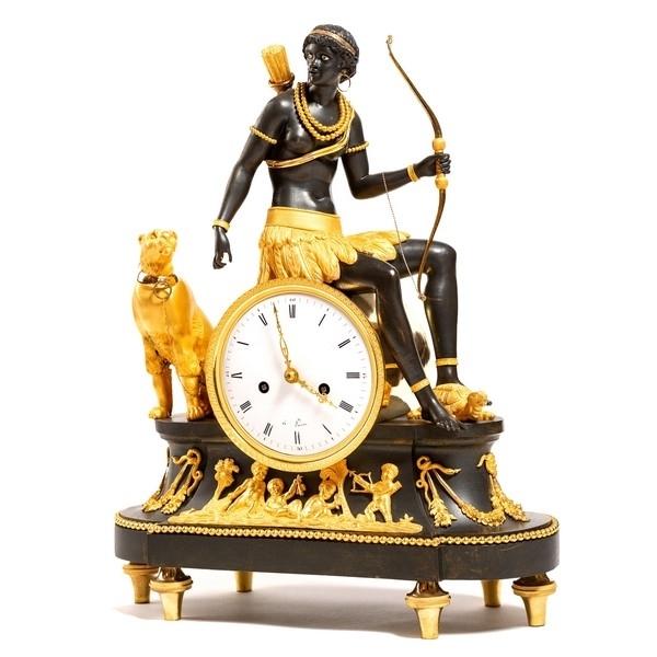 Pendule au Nègre, allégorie de l'Afrique - époque Directoire vers 1800