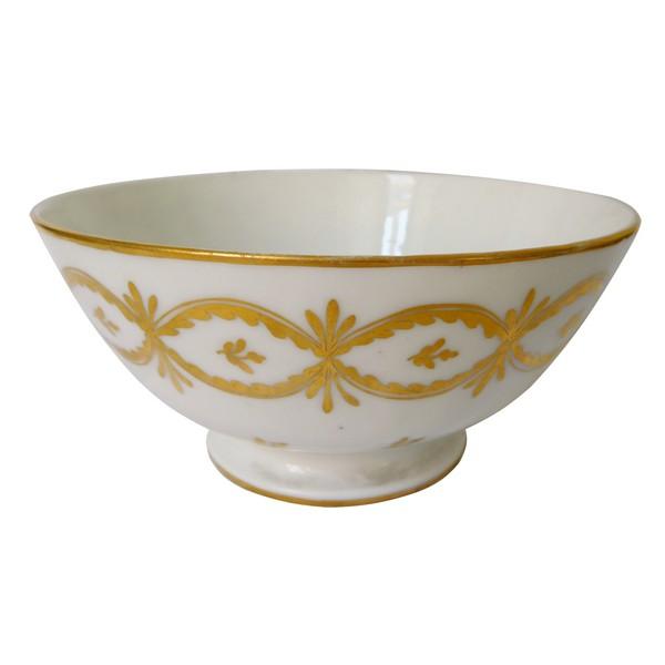 Manufacture de la Reine - bol / ramequin / vide-poches en porcelaine de Paris d'époque XVIIIe