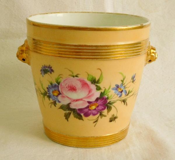Cache-pot jardinière en porcelaine de Paris d'époque Restauration