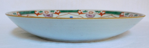 Compagnie des Indes - grand plat creux circulaire en porcelaine de Chine, époque XVIIIe siècle