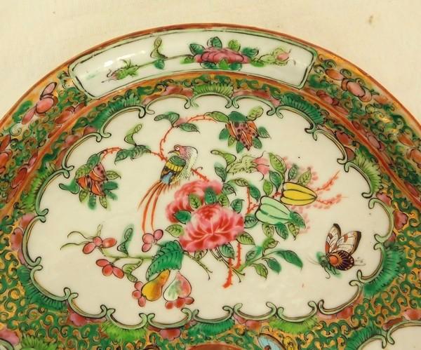 Plateau trilobé en porcelaine de Canton - Chine, XIXe siècle