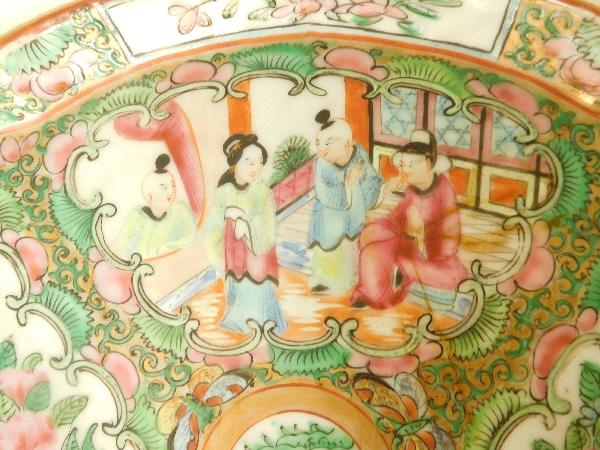 Plateau en porcelaine de Canton - Chine, XIXe siècle