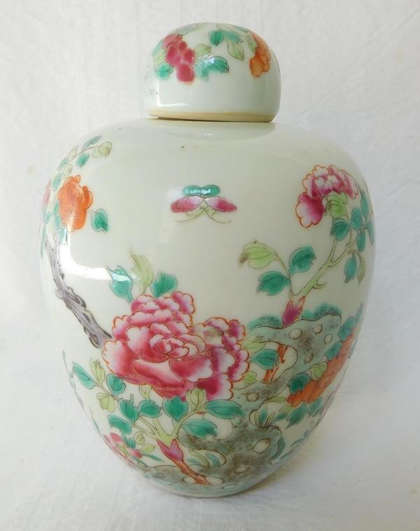 Compagnie des Indes - pot à gingembre en porcelaine de Chine, famille rose - XVIIIe siècle