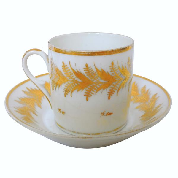 Locré XVIIIe : tasse à café litron en porcelaine d'époque Louis XVI