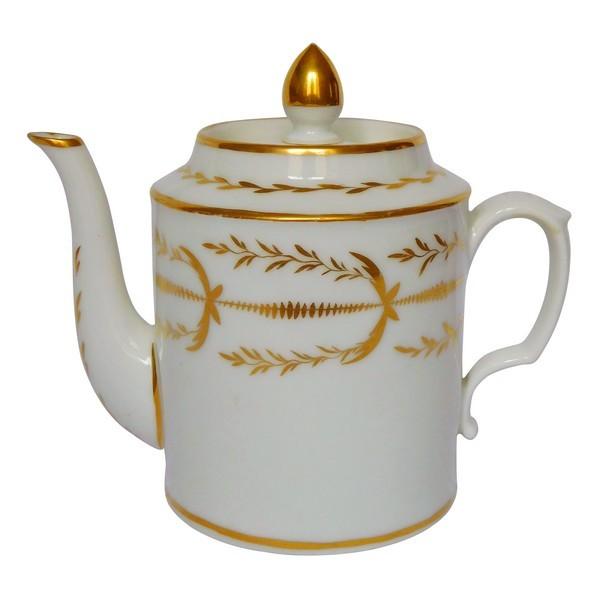 Théière en porcelaine de Paris dorée à l'or - époque Empire début XIXe