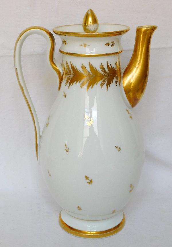 Locré XVIIIe : verseuse / cafetière en porcelaine d'époque Louis XVI