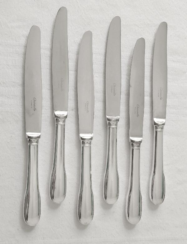 Couteau à fromage en métal argenté, Christofle, modèle Cluny (Uniplat / Vieux Paris)