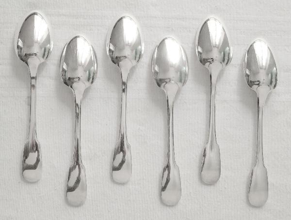 Cuillère à entremets en métal argenté, Christofle, modèle Cluny (Uniplat / Vieux Paris)