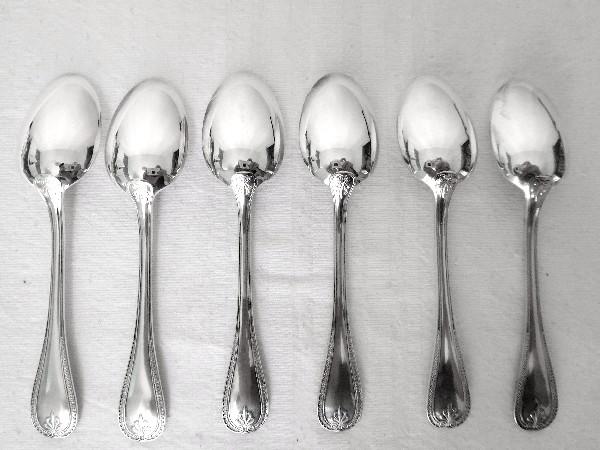 Cuillère à café en métal argenté, Christofle, modèle Malmaison (style Empire)