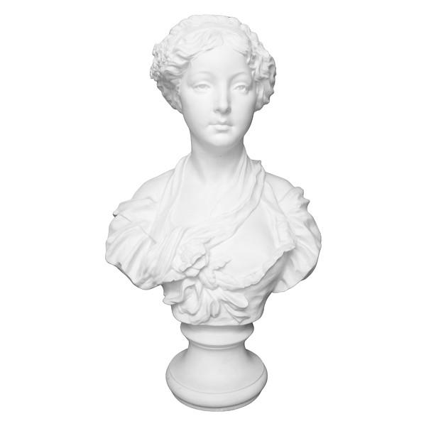Paul L. Houry : buste de jeune fille en biscuit d'après la cruche cassée de Greuze, style Louis XVI