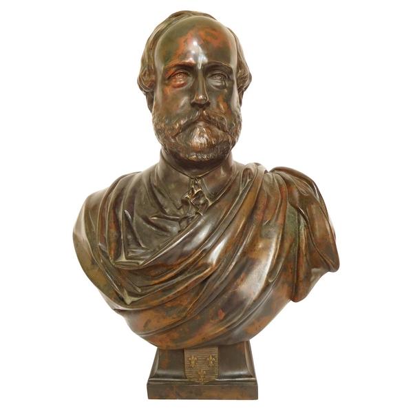 Buste royaliste légitimiste en bronze : Henri V Comte de Chambord, 1872