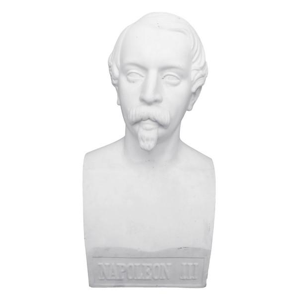 Buste de Napoléon III Empereur en biscuit de porcelaine - souvenir historique du Second Empire