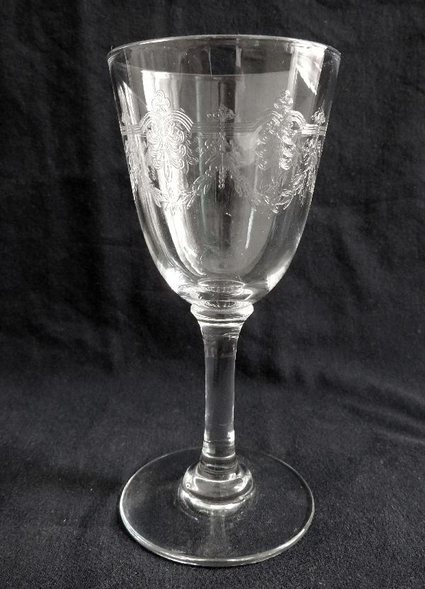 Verre à vin ou verre à porto en cristal de Baccarat, modèle Beauharnais - 11,6cm