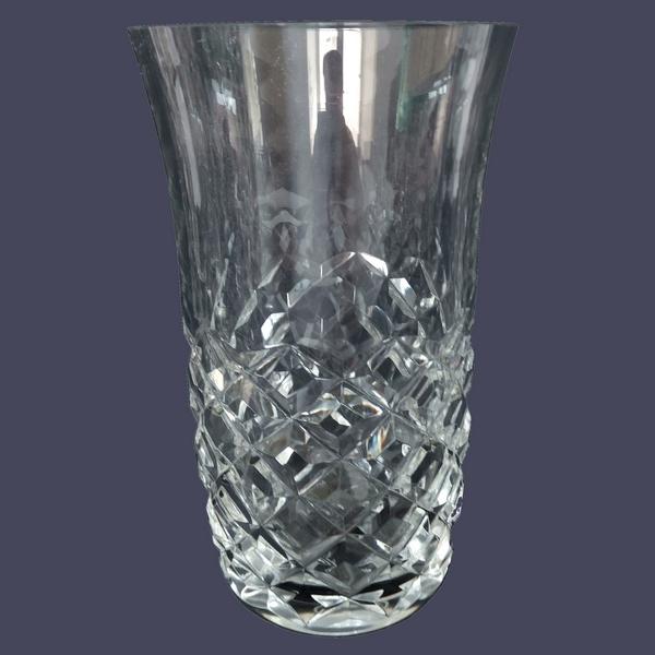Verre à orangeade ou verre à bière en cristal de Baccarat, modèle Burgos - signé