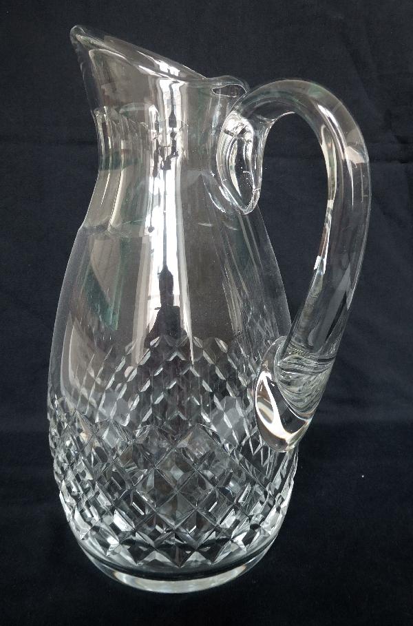 Carafe à eau / pichet / broc en cristal de Baccarat, modèle Burgos - signée