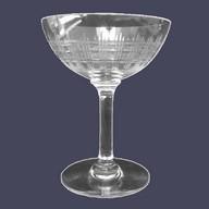 Coupe à champagne en cristal de Baccarat, modèle Cavour