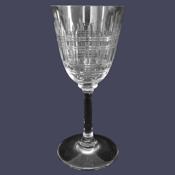 Verre à eau en cristal de Baccarat, modèle Cavour, 16,8cm