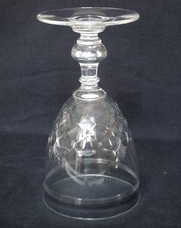 Verre à vin blanc ou porto en cristal de Baccarat, modèle Chauny jambe gondole - 10,2cm
