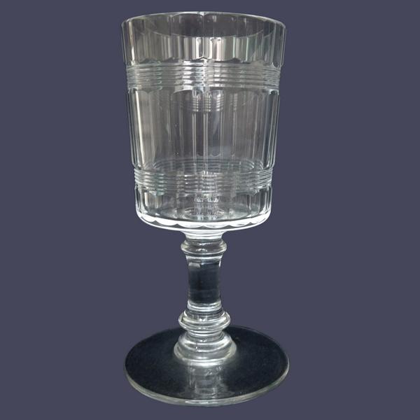Verre à eau en cristal de Baccarat, modèle proche de Chicago à double filet - 14,8cm