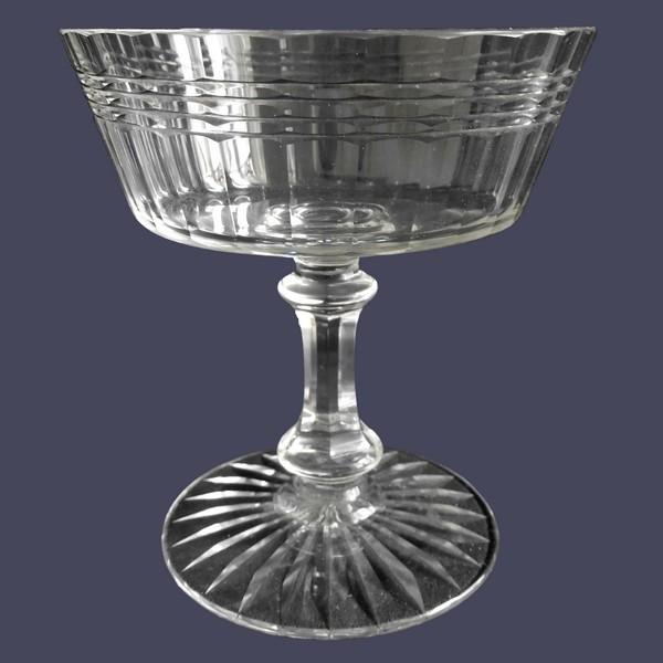 Coupe à champagne en cristal de Baccarat, modèle Chicago version luxe