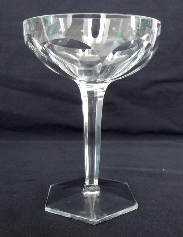 Coupe à champagne en cristal de Baccarat, modèle Compiègne