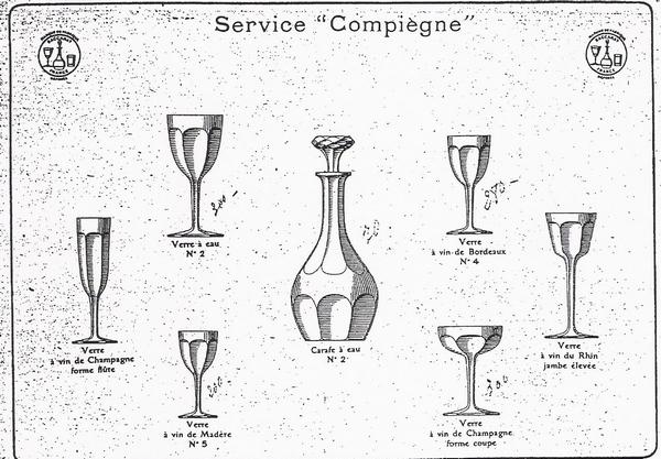Verre à porto en cristal de Baccarat, modèle Compiègne - 13cm