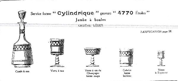 Verre à liqueur en cristal de Baccarat, modèle cylindrique gravé étoiles - 8.5cm